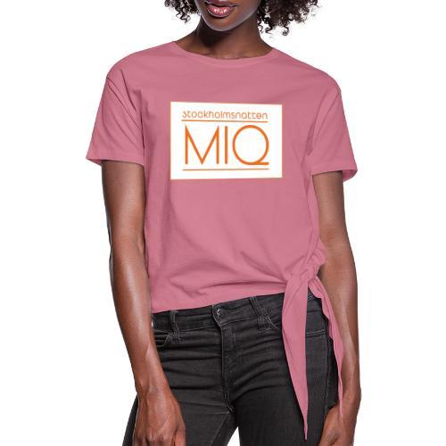 MIQ - STOCKHOLMSNATTEN Singel Cover Logotype - T-shirt med knut dam