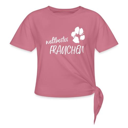 Vorschau: weltbestes Frauchen Pfote Hund - Frauen Knotenshirt