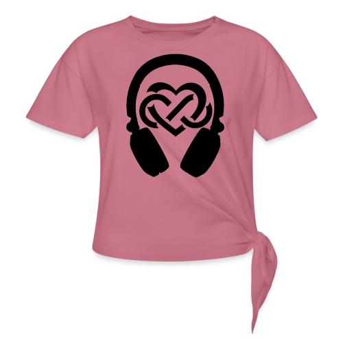 Liefde voor muziek - Vrouwen Geknoopt shirt