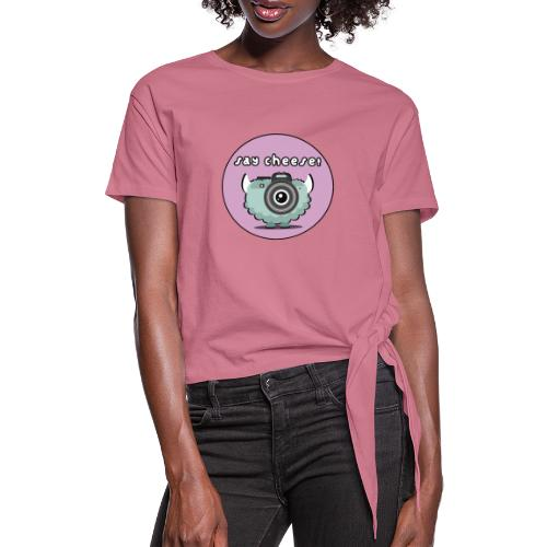 Foton The Monster Camera - Women's Knotted T-Shirt