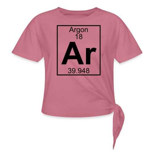 Argon (Ar) (element 18) - Knotted T-Shirt
