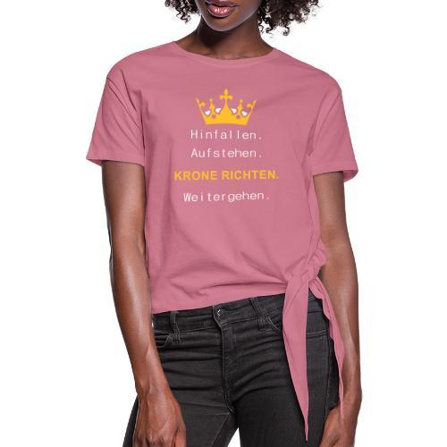 Krone Richten - Knotenshirt