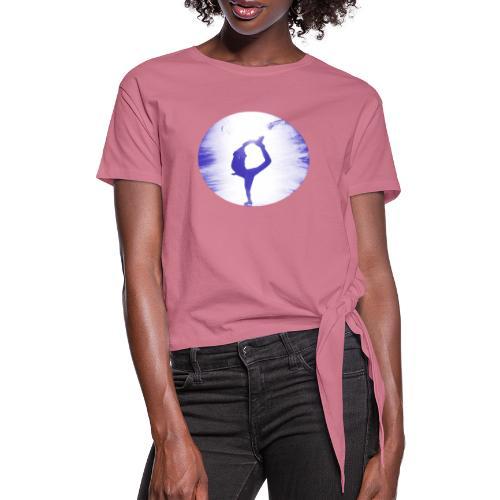 Blauer Skater - Frauen Knotenshirt