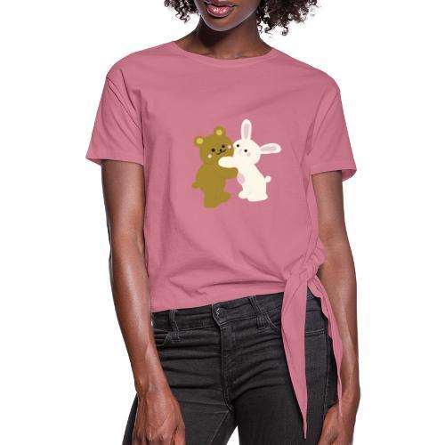 bear and bunny - Camiseta con nudo mujer