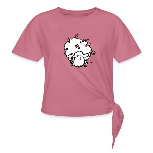 Candy Cane Sheep - T-shirt à nœud