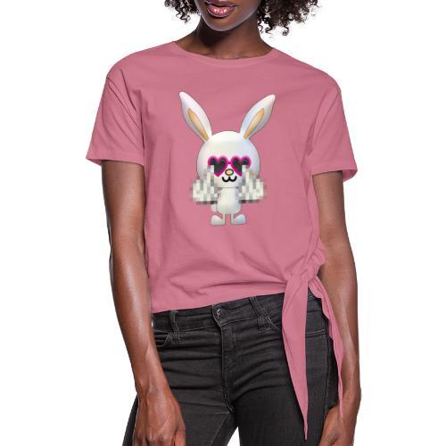 Lapin F*** - T-shirt à nœud Femme
