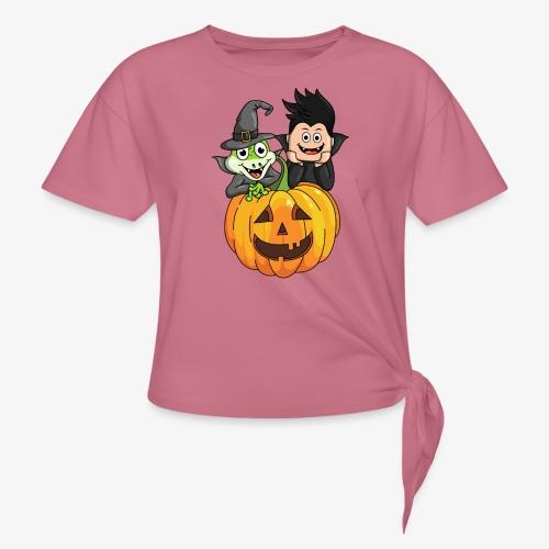 Tomu och Ödlan Halloween - T-shirt med knut dam