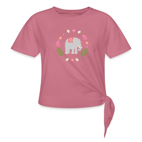 Indian elephant - Maglietta annodata da donna