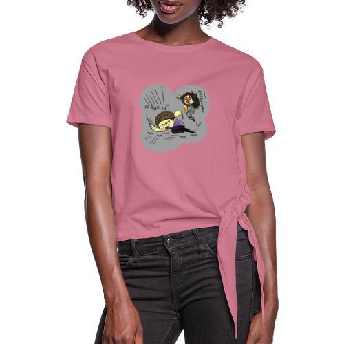 JoJo BA reference - Koszulka damska z wiązaniem