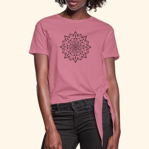 mandala - T-shirt à nœud Femme