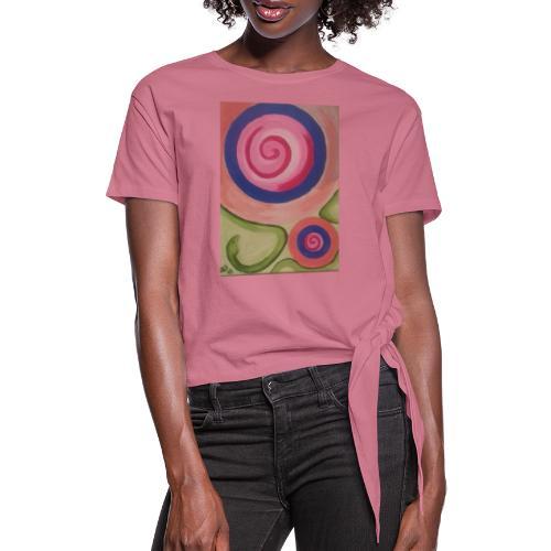 spirale con serpente - Maglietta annodata da donna