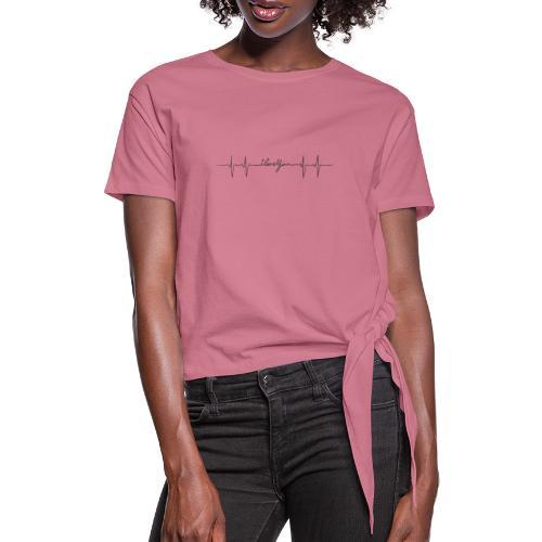 Ik hou van jou hartslag - T-shirt à nœud