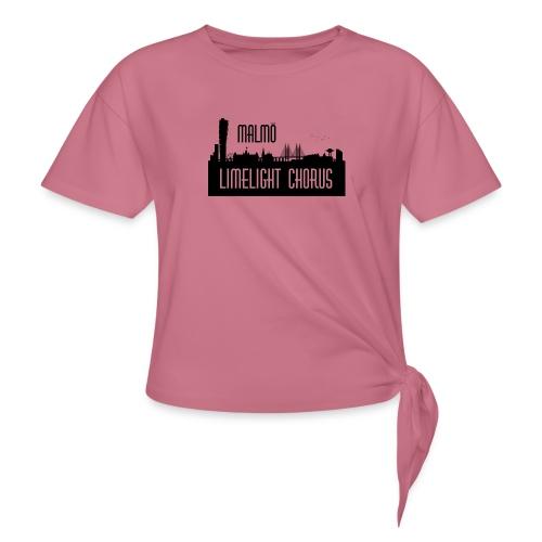 MLCLogo - T-shirt med knut dam