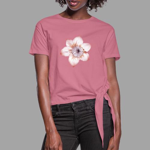 Fiore Rosa Antico - Maglietta annodata da donna