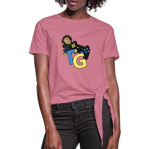 logo kanału z konorią - Koszulka damska z wiązaniem
