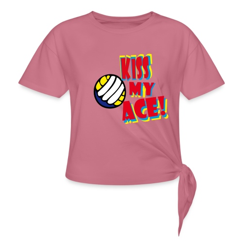 kiss my ace - Frauen Knotenshirt