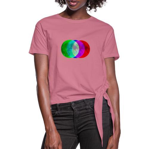 RGB moon - Koszulka z wiązaniem