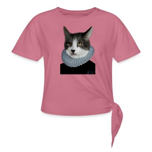 Noble Cat - Frauen Knotenshirt