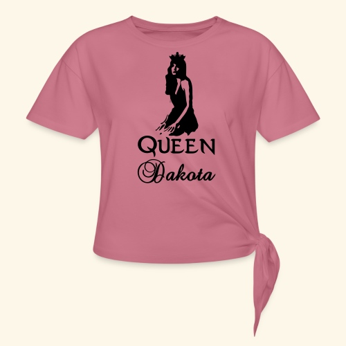 Queen Dakota - Women's Knotted T-Shirt
