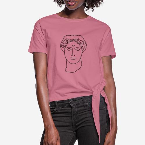 The goddess - Women's Knotted T-Shirt