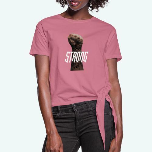 Strong - Frauen Knotenshirt