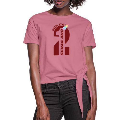 Logo nonceduesenzauno - Maglietta annodata da donna