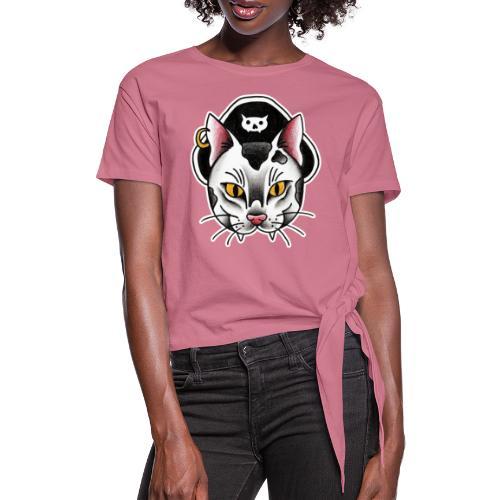 Piratecat - Maglietta annodata da donna