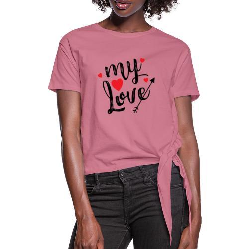 My love - Dame knot-shirt