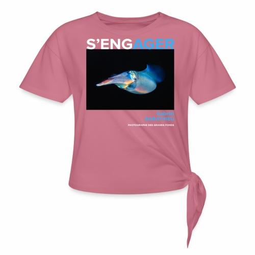 1 Achat = 1 Don à l'association Deep blue explore - T-shirt à nœud Femme