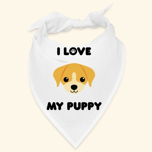 Love my puppy - Bandana