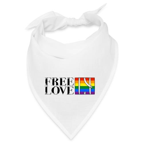 Free Love Rainbow Flag Freie Liebe - Bandana