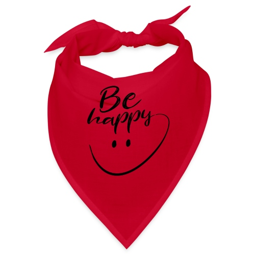 Be Happy With Hand Drawn Smile - Bandana
