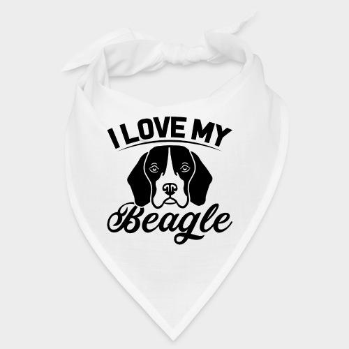 I LOVE MY BEAGLE - Bandana