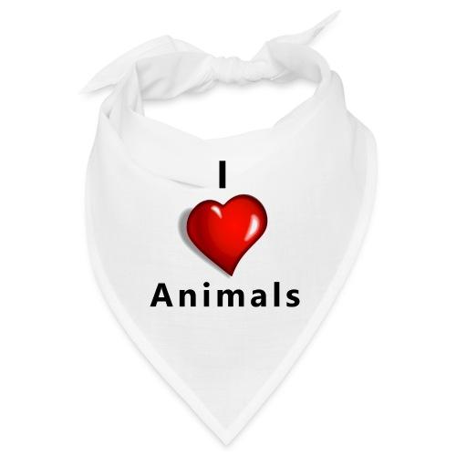 i love animals - Bandana