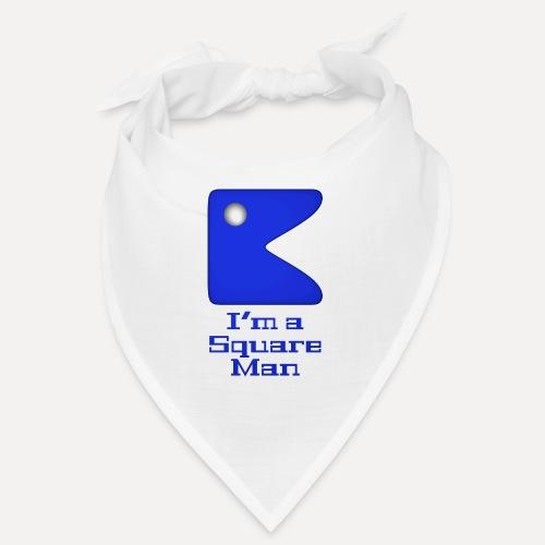 Square man blue - Bandana