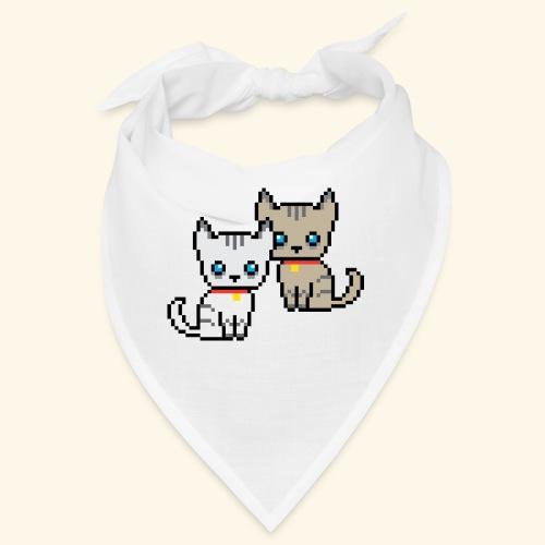 deux chats pixel - Bandana