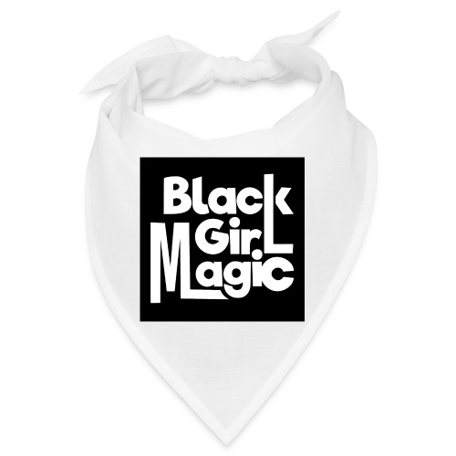 Black Girl Magic 2 White Text - Bandana