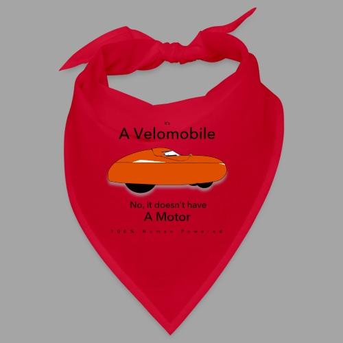 it s a velomobile black text - Bandana