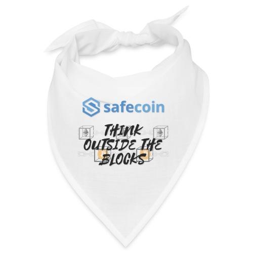 SafeCoin; Think Outside the Blocks (black + blue) - Bandana