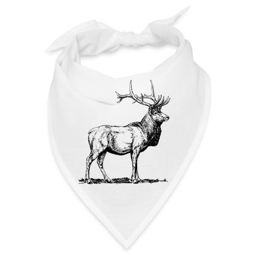Silueta ciervo real transparente - Bandana