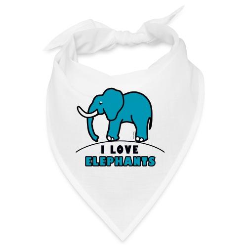 Blauer Elefant - I LOVE ELEPHANTS - Bandana