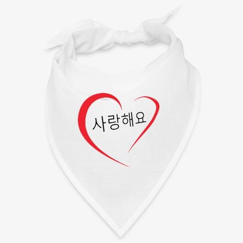 Saranghaeyo (je t'aime en coréen) - Bandana
