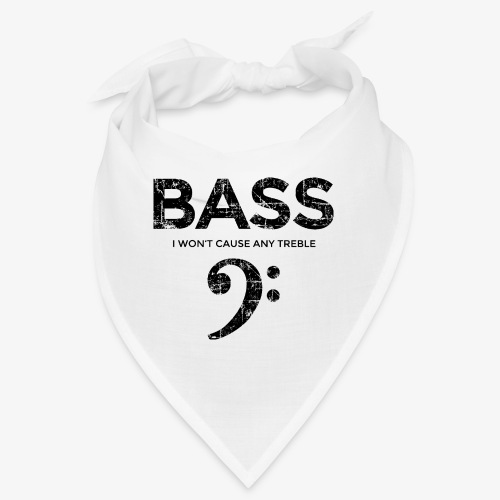 BASS I wont cause any treble (Vintage/Schwarz) - Bandana