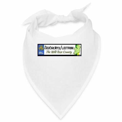 LEITRIM, IRELAND: licence plate tag style decal eu - Bandana