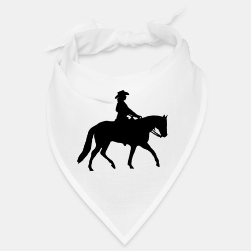 Ranch Riding Silhouette Westernreiterin - Bandana