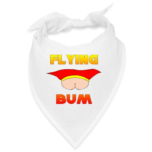 Flying Bum (face on) with text - Bandana