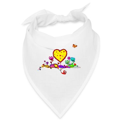 Blumengruß mit Herz - Bandana
