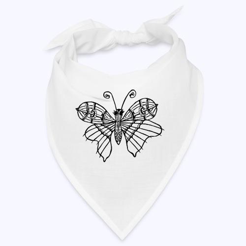 Schmetterling schwarz - Bandana