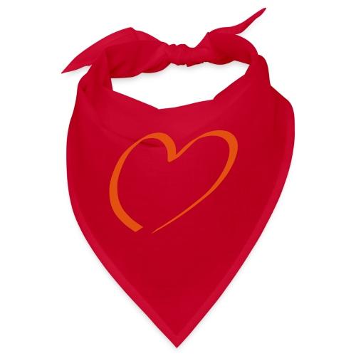 Herz rot - Bandana