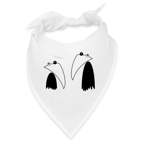 Raving Ravens - black and white 1 - Bandana